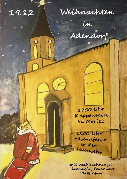 Grosse Ereignisse im kleinen Adendorf am Samstag, den 19.12.2015 ab 17.00 Uhr